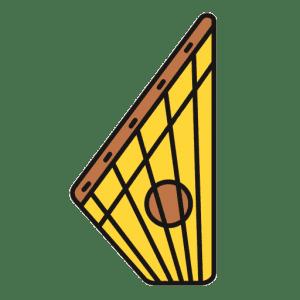 """Sodininkų bendrijos """"Kanklės"""" logotipas"""